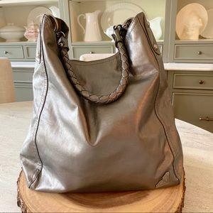 Roxy Metallic Grey Bag - NWOT